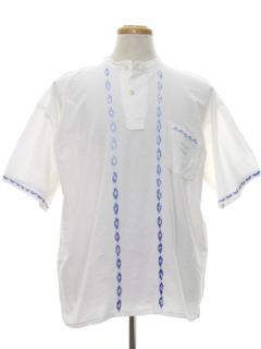 1980's Mens Embroidered Hippie Shirt