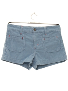 1970's Womens Hotpants Corduroy Shorts