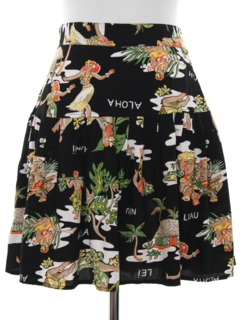 1980's Womens Hawaiian Mini Skirt