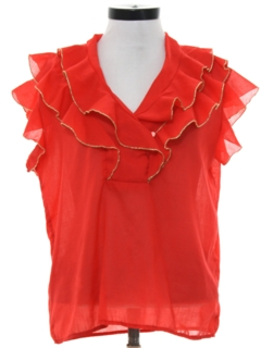 1970's Womens Ruffle Shirt