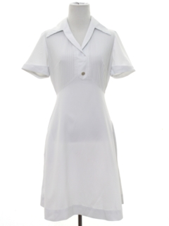 1970's Womens Uniform Nurse Dress
