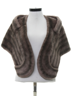 1960's Womens Faux Fur Stole Jacket