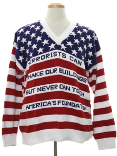 1990's Mens Patriotic Sweater