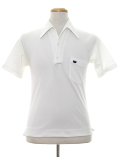 1970's Mens Knit Golf Style Polo Shirt