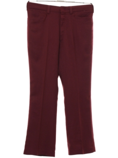 1970's Mens Flared Wool Leisure Pants