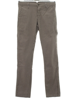 1960's Mens Mod Tapered Leg Pants