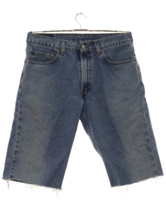 1990's Mens Levis 505 Cut Off Denim Jeans Shorts