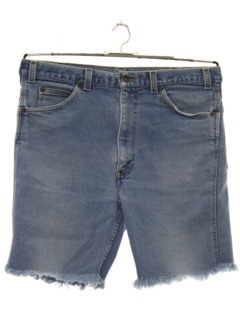 1980's Mens Levis 520 Denim Cut Off  Jeans Shorts