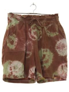 1980's Womens Tie Dye Shorts