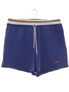1980's Womens Totally 80s Olympic Sport Shorts