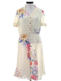 1970's Womens Print Dress