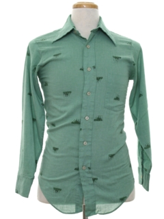1970's Mens/Boys Mod Shirt