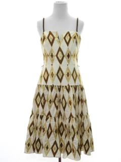 1970's Womens Desginer Cocktail Dress