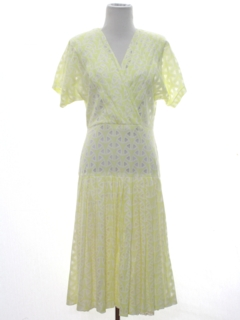1980's Womens Knit Dress