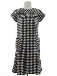 1970's Womens Mod Wool A-Line Dress