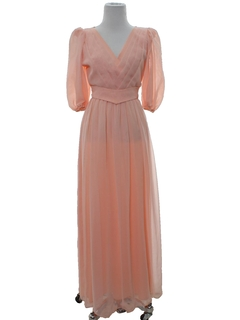 1970's Womens Prom Or Cocktail  Maxi Dress