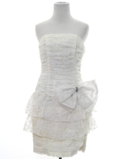 1980's Womens Totally 80s Mini Prom, Cocktail, or Wedding Dress