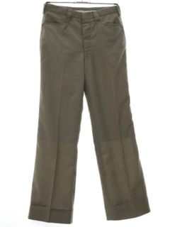 1980's Mens Mod Flared Western Style Leisure Pants