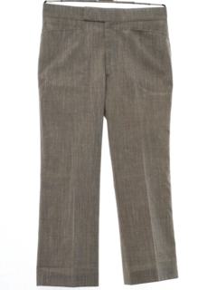 1960's Mens Mod Flared Wool Blend Leisure Style Slacks Pants