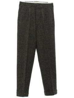 1950's Mens Mod Pleated Slacks Pants