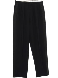1950's Mens Pleated Tuxedo Slacks Pants