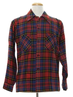 1960's Mens Wool Flannel Sport Shirt