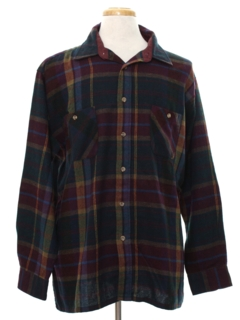 1980's Mens Wool Flannel Shirt