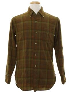 1960's Mens Mod Pendleton Wool Flannel Shirt