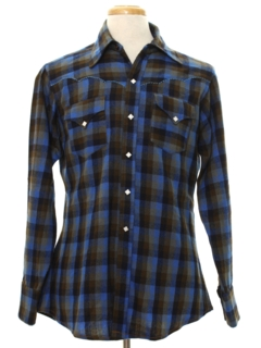 1980's Mens Western Style Wool Flannel Shirt