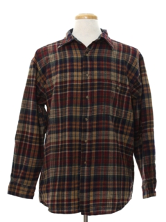 1980's Mens Pendleton Wool Flannel Shirt