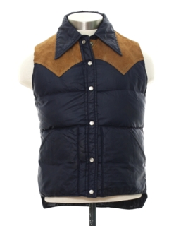 1970's Mens or Boys Western Style Ski Vest Jacket