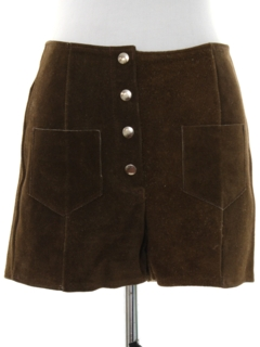 1970's Womens Suede Leather Hotpants Shorts