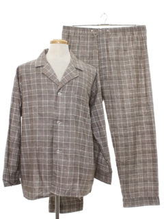 1960's Mens Mod Plaid Pajamas