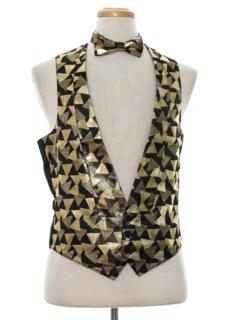 1980's Mens Totally 80s Tuxedo Vest