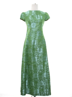 1960's Womens/Girls Maxi Prom Dress