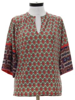 1970's Womens Dashiki Style Hippie Shirt