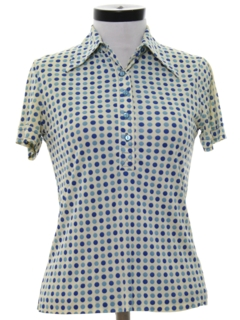 1970's Womens Mod Knit Golf Shirt