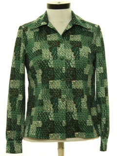 1970's Womens Print Lightweight Shirt Jacket