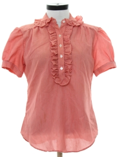 1960's Womens Ruffled Shirt