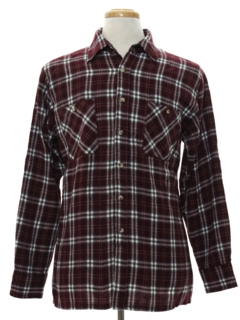 1990's Mens Flannel Sport Shirt