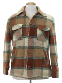 1970's Mens Car Coat Style CPO Jacket