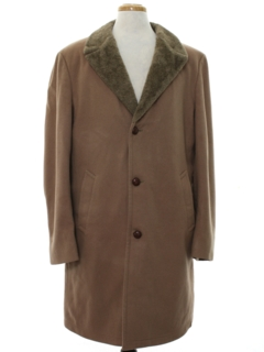 1960's Mens Mod Wool Overcoat Car Coat Style Jacket