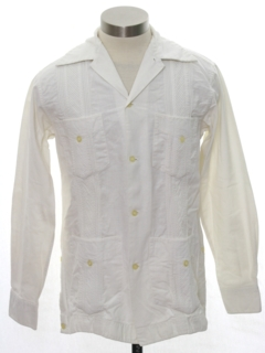 1970's Mens/Boys Guayabera Shirt