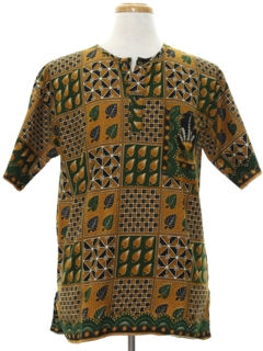 1980's Mens Ethnic African Style Hippie Shirt