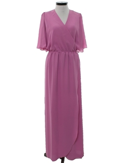 1970's Womens Disco Maxi Dress