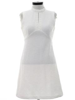 1970's Womens Mod Knit A-Line Go-Go Style Dress