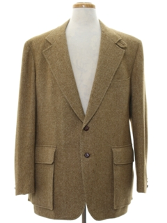 1970's Mens Mod Wool Blazer Sport Coat Jacket