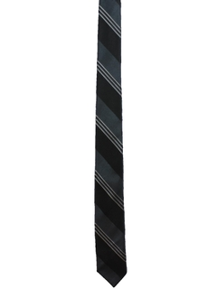 1960's Mens Skinny Diagonal Necktie