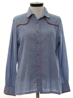 1980's Womens Chambray Western Shirt