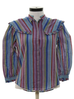 1980's Womens Totally 80s Prairie Shirt
